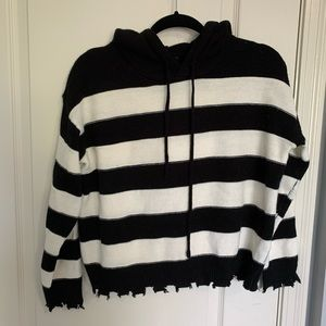 Forever 21 distressed sweater hoodie